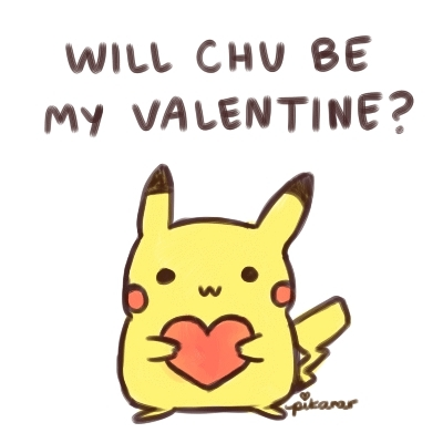 happy valentines day, pikachu, valentines day,  GIFs