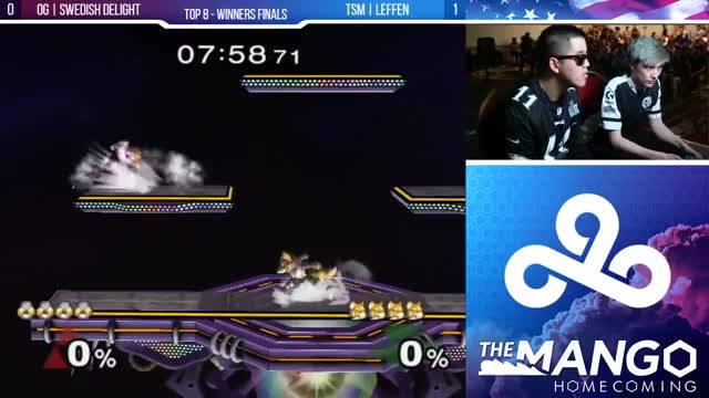 Mango Homecoming - OG | Swedish Delight (Sheik) VS TSM | Leffen (Fox) - SSBM - Top 8- Winners Final