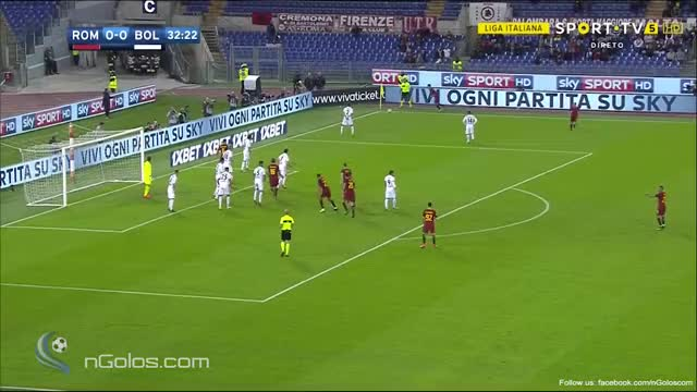 Watch and share (www.nGolos.com) AS Roma 1-0 Bologna - El Shaarawy 33' GIFs by minieri on Gfycat