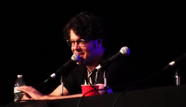 Watch and share Sean Schemmel & Christopher Sabat Q&A- Dragonball Z Resurrection F- Dweeb Factory GIFs on Gfycat