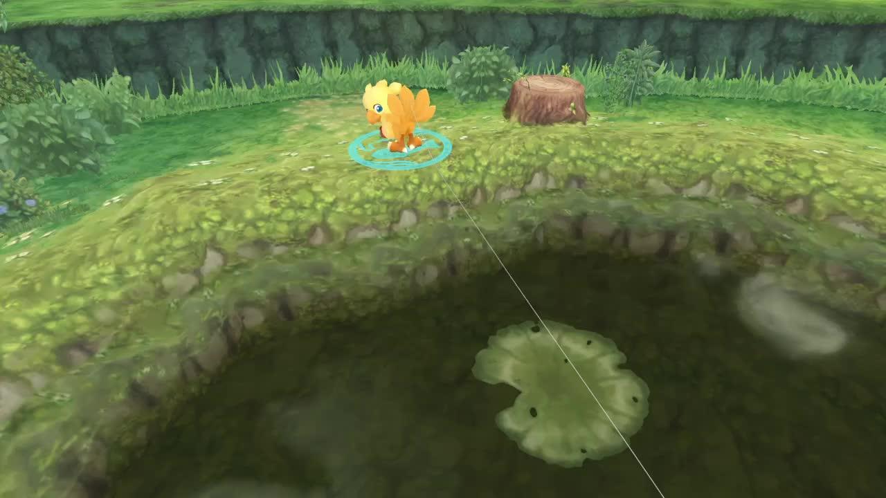 chocobo, finalfantasy, fishing, gaiming, chocobo's dungeon fishing GIFs