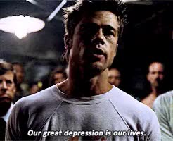 Watch and share Fight Club GIFs and Brad Pitt GIFs on Gfycat