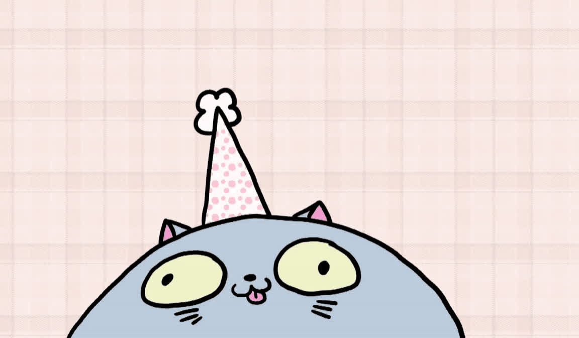 bday, best, birthday, cake, card, cat, celebrate, cute, excited, funny, happy, happy birthday, hat, kitten, kitty, party, smile, tada, wish, wishes, It's your birthday today GIFs