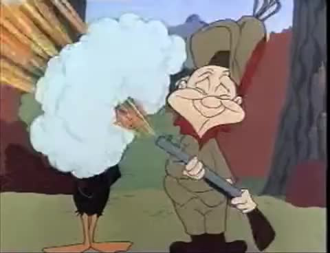 Watch and share Looney Tunes: Daffy Gets Blasted - 17 Times! GIFs on Gfycat