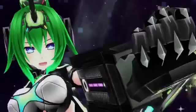 Watch and share Megadimension Neptunia VII Green NEXT: Infinite Spear GIFs on Gfycat