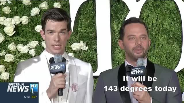 Watch and share Nick Kroll And John Mulaney Report The News GIFs by Reactions on Gfycat