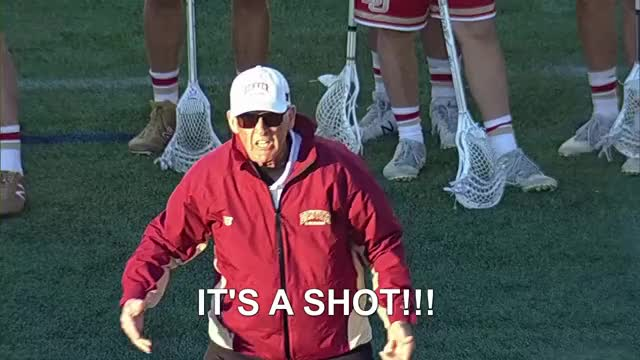 Watch Coach Tierney IT'S A SHOT!!! GIF by Lacrosse Film Room (@laxfilmroom) on Gfycat. Discover more 10 man ride, Bill Tierney, Denver, lacrosse, referee, yelling at the ref GIFs on Gfycat