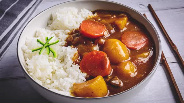 Watch and share Japanese Potato Curry GIFs by Chef Łukasz Babral on Gfycat