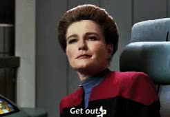 Watch and share Kathryn Janeway GIFs and Star Trek GIFs on Gfycat