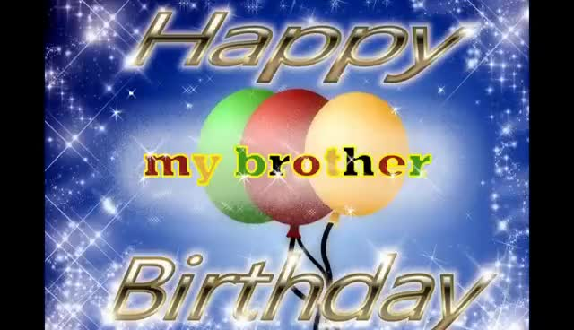 Watch and share Happy Birthday Brother Song GIFs on Gfycat