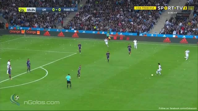 Watch and share (www.nGolos.com) Marseille 1-0 Paris SG - Luiz Gustavo 16' GIFs by minieri on Gfycat