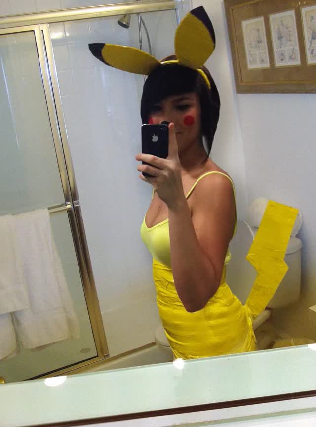 Watch and share Cosplay GIFs and Pikachu GIFs on Gfycat