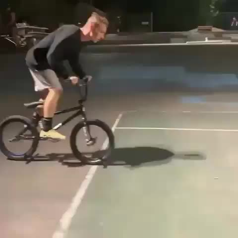 attempt, epic, epic fail, fail, funny, funny fail, haha, lol, trick, Doing a cool trick while riding a bike GIFs