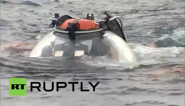 Watch Russia: Underwater Govt? Medvedev surprises Putin at bottom of Black Sea GIF on Gfycat. Discover more related GIFs on Gfycat