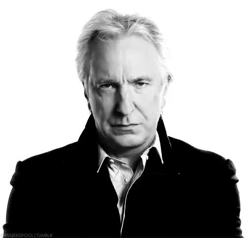 Watch and share I Love Alan Rickman GIFs and Severus Snape GIFs on Gfycat