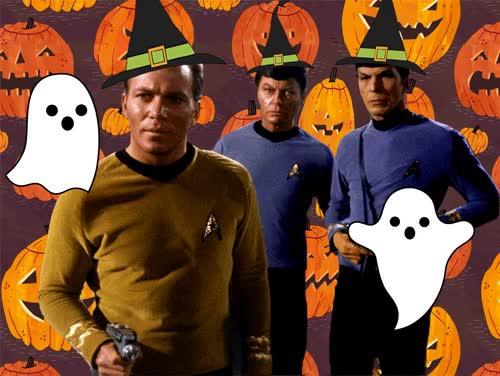 Watch this halloween GIF by Star Trek gifs (@star-trek-gifs) on Gfycat. Discover more Captain Kirk, DeForest Kelley, Halloween, James T. Kirk, Kirk, Leonard McCoy, Leonard Nimoy, McCoy, Spock, Star Trek, William Shatner GIFs on Gfycat