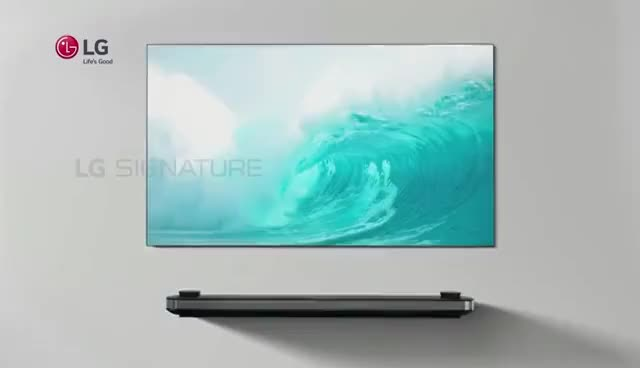 Watch and share LG Signature OLED W - ECI | LG España GIFs on Gfycat