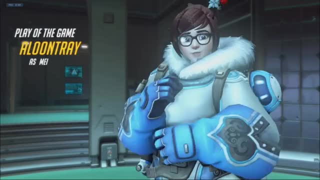 Watch and share Overwatch GIFs and Mei GIFs by aloontray on Gfycat