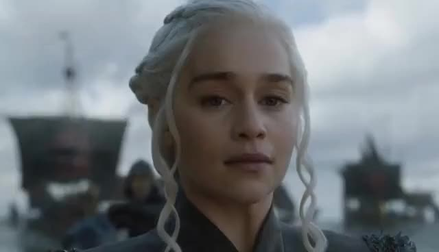 Watch S07 E01 Daenerys Targaryen finally Lands in Westeros|Lands at Dragonstone |Game of thrones season 7| GIF on Gfycat. Discover more Emilia Clarke GIFs on Gfycat