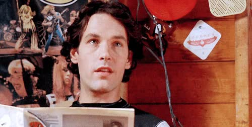 Watch and share Paul Rudd GIFs and Laughing GIFs by werwolf on Gfycat