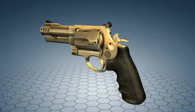 Watch and share How Does S&W Model 500 Revolver Work? 3D Model Animation GIFs on Gfycat