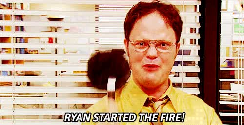 Watch the office fire GIF on Gfycat. Discover more rainn wilson GIFs on Gfycat