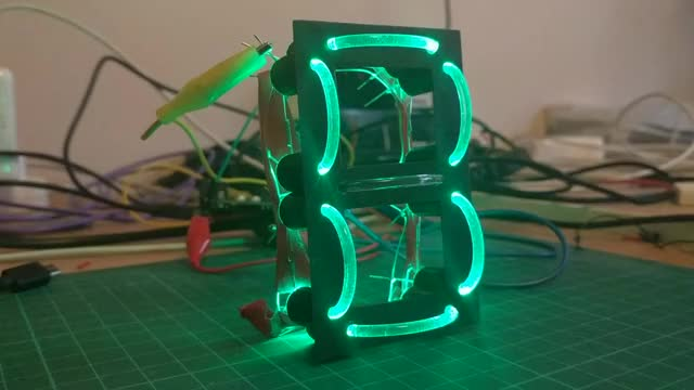Watch and share Lightpipe 7-Segment Display By Brian Lough GIFs by witnessmenow on Gfycat
