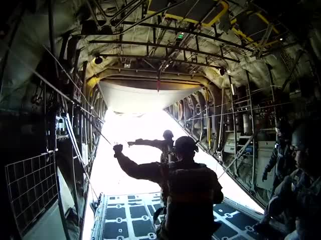 Watch and share 10th Special Forces Group (Airborne) C-130 Static Line GIFs by Movie & Military GFYS  on Gfycat