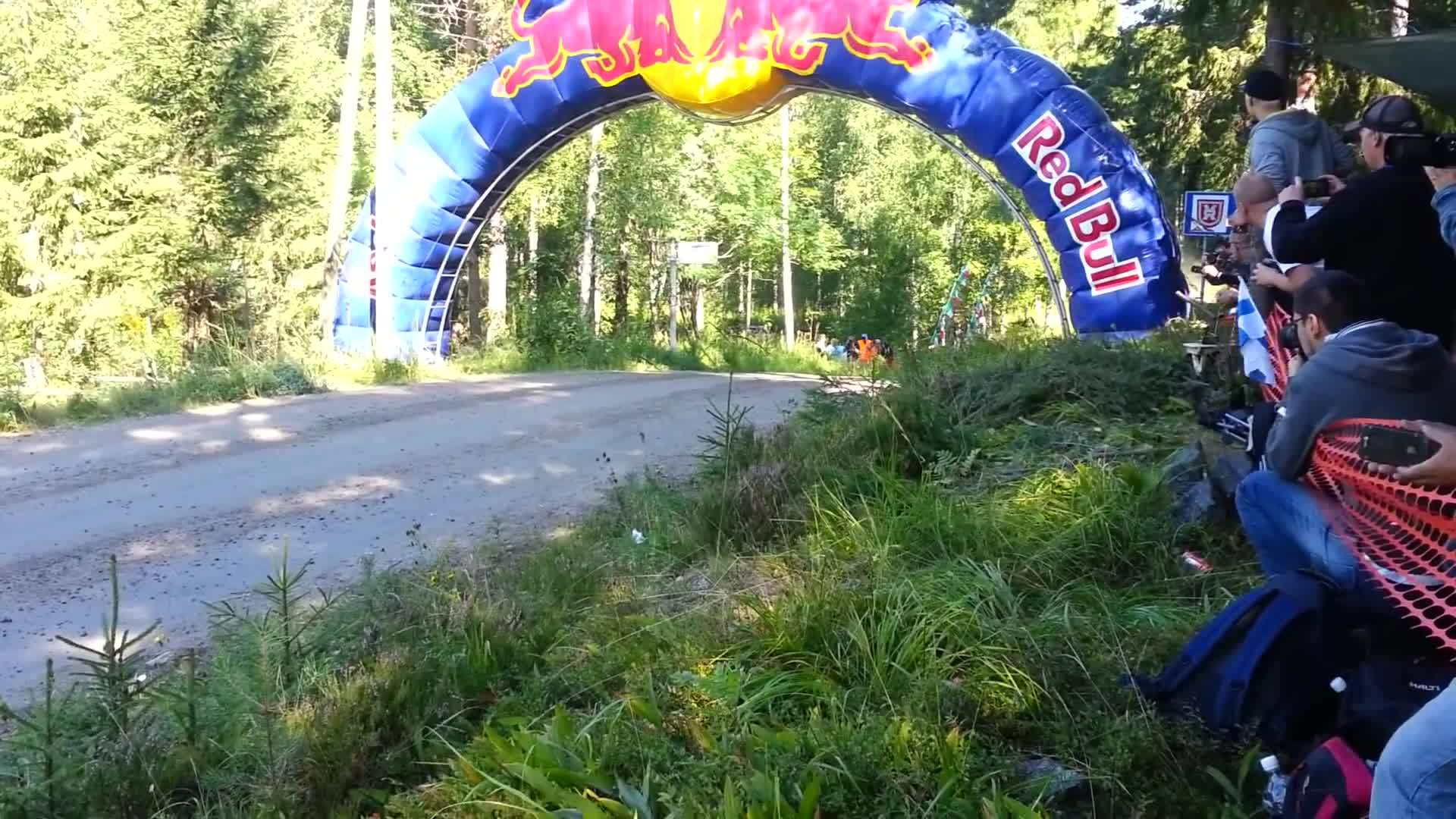 rally, rally finland, wrc, Thierry Neuville Jump @ 2013 Rally Finland GIFs