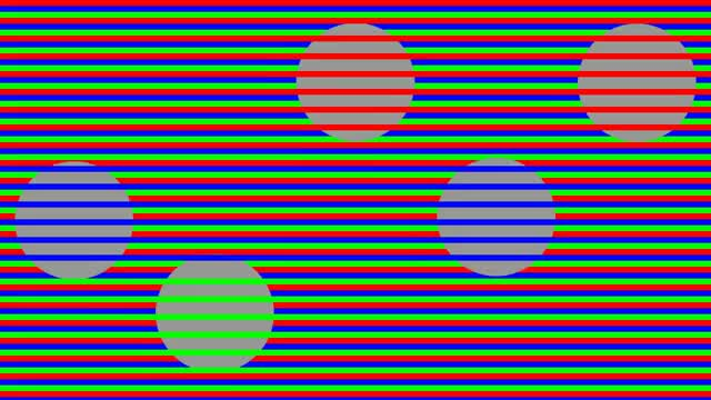 Watch and share Dyn[a]mic Munker Illusion ~ The Circles Are All The Same Constant Shade Of Grey. GIFs on Gfycat