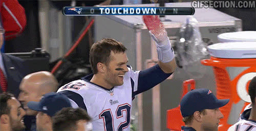 new england patriots, patriots, High Five Tom Brady GIFs