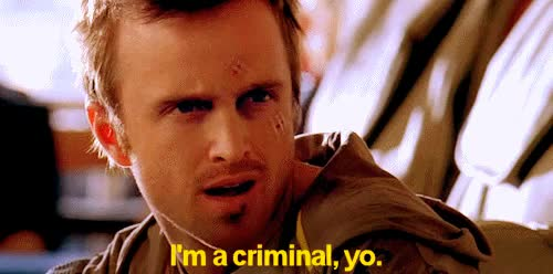 Watch and share Jesse Pinkman Im Criminal Yo GIFs on Gfycat