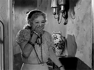 bette davis, cackling, cracking up, funny, hilarious, im screaming, laughing, lol, lololol, whatever happened to baby jane, Bette Davis Cracking Up GIFs