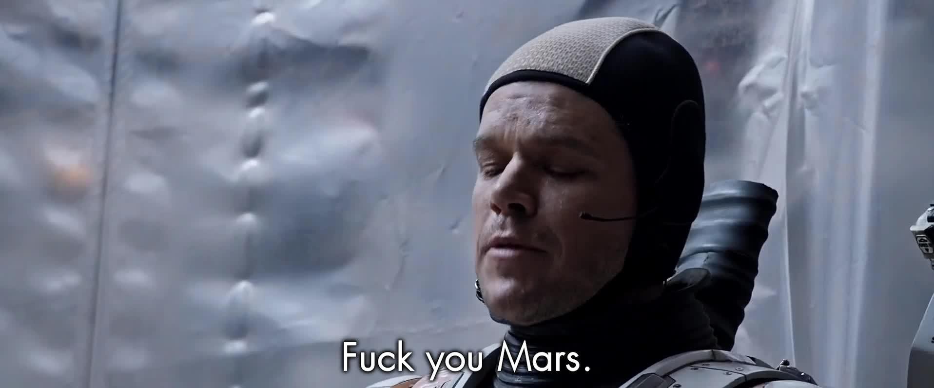 reactiongifs, Fuck you, Mars - The Martian GIFs