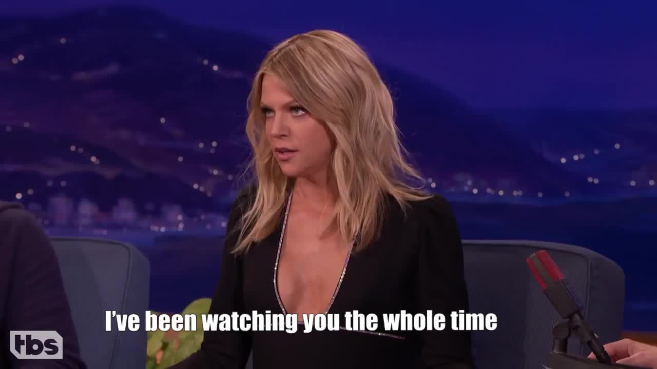 GIF Brewery, kaitlin-olson-s-scary-6-year-old-son---conan-on-tbs, I've been watching you the whole time GIFs