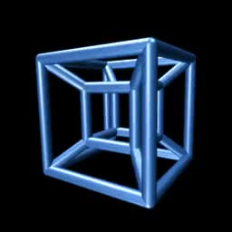 Watch and share 3D Representation Of 4D Cube GIFs by cubic-zirconia on Gfycat