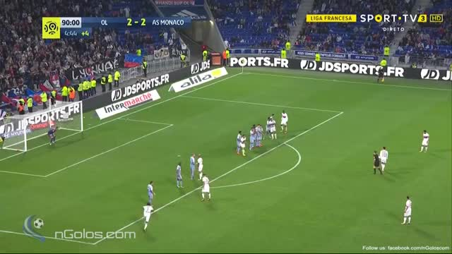 Watch (www.nGolos.com) Lyon [3]-2 Monaco - Fekir 90'+5'  GIF by Minieri (@minieri) on Gfycat. Discover more related GIFs on Gfycat
