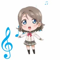 Watch and share Watanabe You Chibi GIFs on Gfycat