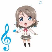 Watch and share Watanabe You Chibi GIFs on Gfycat
