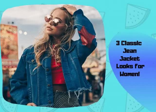 Watch and share 3 Classic Jean Jacket Looks For Women! GIFs by Oasis Jackets on Gfycat