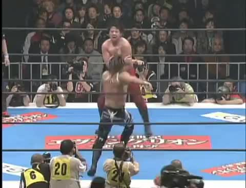 NJPW GREATEST MOMENTS TANAHASHIvsNAKAMURA SPECIAL GIFs