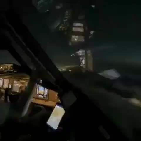 Time-lapse of a pilot descending into LAX on a cloudy night. GIFs