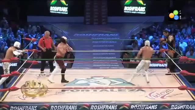 Watch Mephisto & Mistico vs Carístico & Cibernético in the National Parejas Increible final GIF on Gfycat. Discover more carístico, mephisto, squaredcircle GIFs on Gfycat