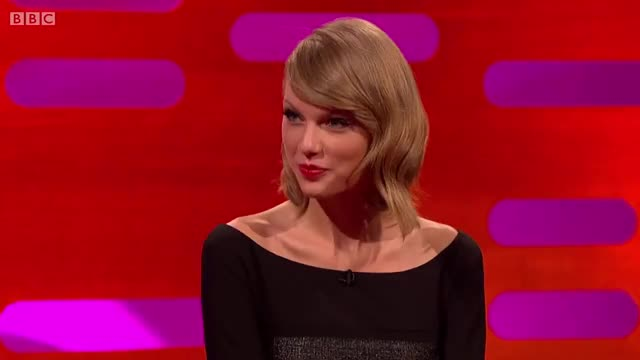 Watch  Taylor Swift GIF on Gfycat. Discover more Graham Norton (TV Personality), Talk Show (TV Genre), Taylor Swift (Celebrity), The Graham Norton Show (TV Program), taylor swift GIFs on Gfycat