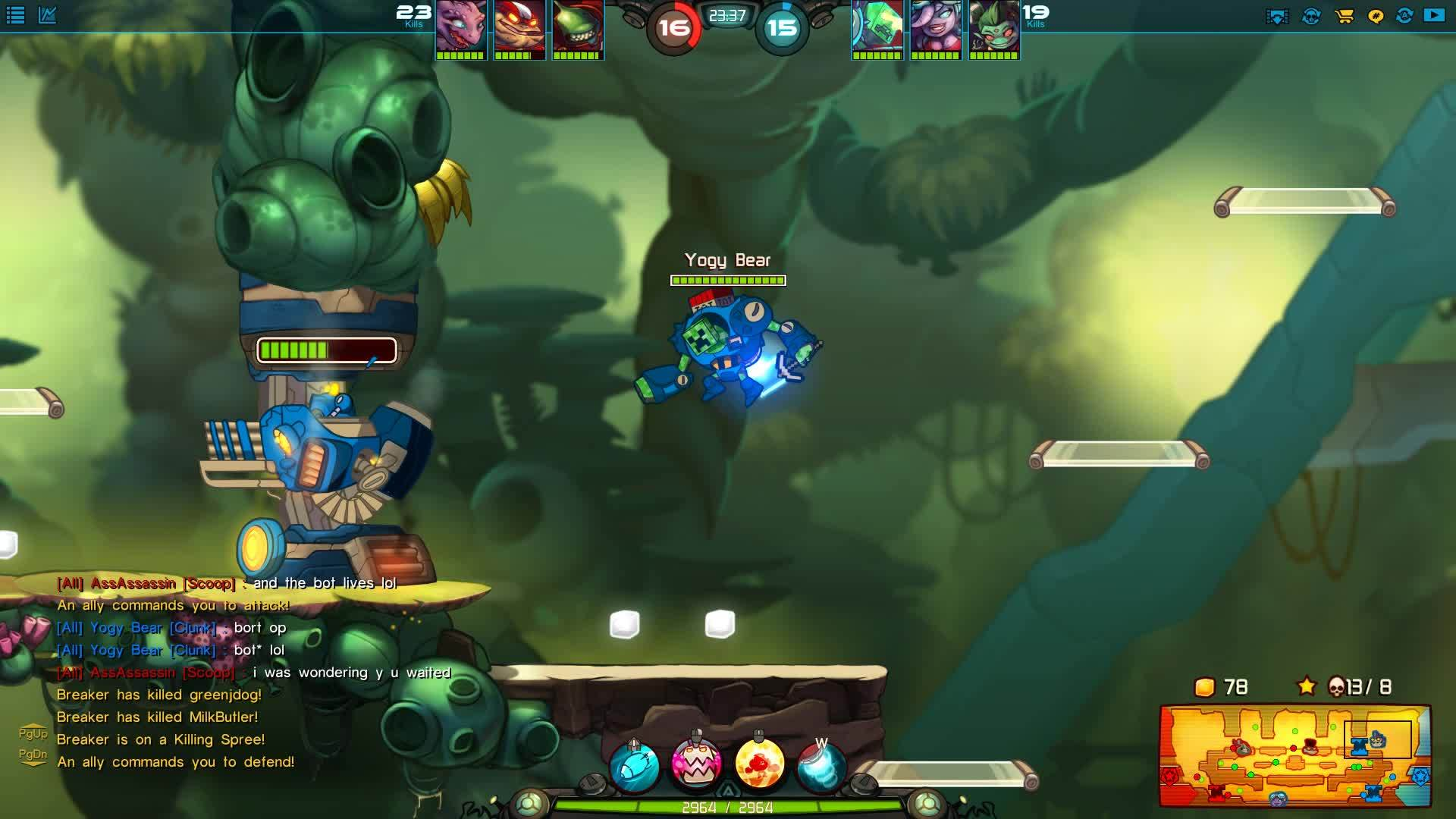 awesomenauts, mistyfront, Picked up a nice triple with Clunk after a ~5 month break from him. (reddit) GIFs