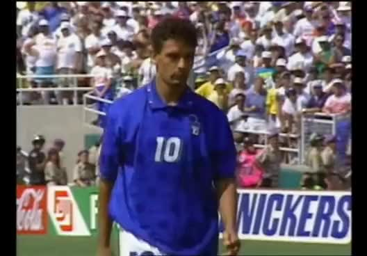 Watch and share Baggio Penalty Miss - 1994 World Cup Final GIFs on Gfycat