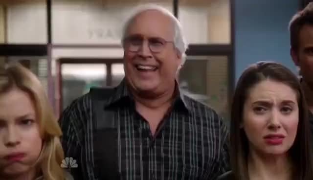 Watch and share Community - S03E10  /// Baby Boomer Santa GIFs on Gfycat