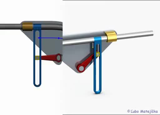 Watch and share Scotch Yoke Mechanism (Kulisový Posuvný Mechanizmus) 3D Creo Elements GIFs on Gfycat