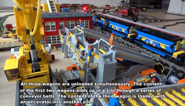 Watch and share HUGE Lego Train Coal Terminal Fully Automated By Arduino GIFs on Gfycat