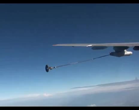 Russian Airforce Aerial Refuelling - Amazing Footage GIFs
